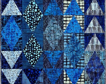 Magical Mountains Quilt Kit featuring The Blue One by Marcia Derse