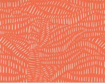 Words To Live By by Gingiber - Orange Clementine 48323 15 - 100% Cotton Quilt Fabric - FQ Fat Quarter BTHY Half Yard