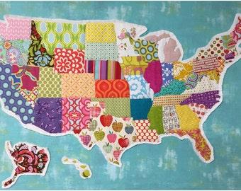 United Scraps of America Pattern - Print Pattern