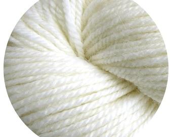 bleach white weepaca by Big Bad Wool - light worsted yarn - 50% fine washable merino and baby alpaca - 95 yards