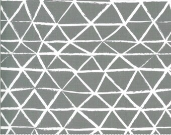 Zoology by Gingiber - Rustic Triangle - Grey - Select a Size - Cotton Quilt Fabric