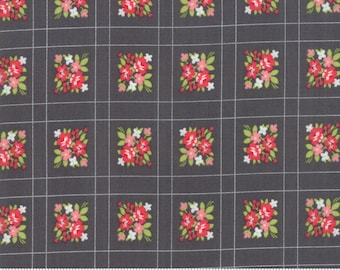 SALE Little Snippets by Bonnie & Camille for Moda - Forget Me Not - Charcoal - Grey - 100% Cotton Quilt Fabric - Choose Your Size