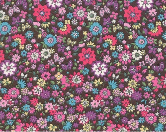 Regent Street Lawn 2019 by Moda - Camden - Chocolate - Brown - Cotton Quilt Fabric - Choose Your Size