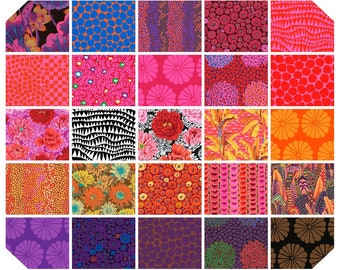 """HOT or COOL Kaffe Fassett February 2021 Collection - 10"""" layer cake or Fat Quarter Bundle"""