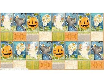 "Spirit of Halloween by Cori Dantini for Free Spirit - Hallowed Joy Panel - 100% Cotton Quilt Fabric - 24""x44"""