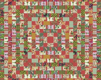 Earth Made Grid Quilt Kit by Kathy Doughty Free Spirit Fabrics
