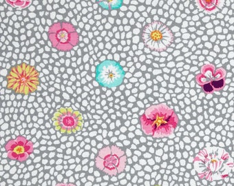 Kaffe Fassett Collective - Guinea Flower - Grey - PWGP059 - Select a Size -100% Cotton Quilt Fabric K