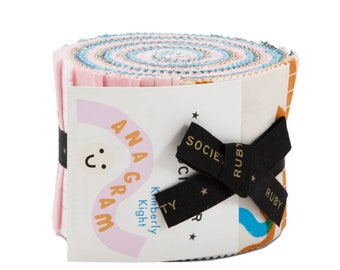 """Anagram by Kimberly Kight of Ruby Star Society for Moda - 20 piece 2.5"""" x 44"""" Junior Jelly Roll - Cotton Quilt Fabric"""