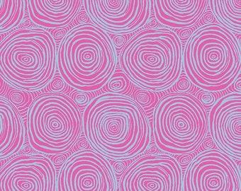 "Onion Ring Pink Wide Back - Brandon Mably Kaffe Fassett Free Spirit Fabrics - BM001 - 1/2 Yard - 108"" Cotton Quilt Back Fabric - Sateen"