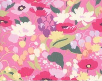 Regent Street Lawn 2019 by Moda - English Garden - Pink - Cotton Quilt Fabric - Choose Your Size