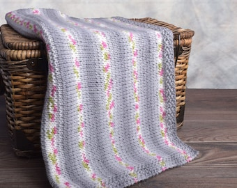 Blossom Baby Car-Seat Blanket Kit - Includes yarn & Free PDF knitting pattern - Choose Your Color