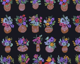Flower Market by Courtney Cerruti - Anna Maria's Conservatory by Free Spirit - Bouquets D'Art - Garden - Select a Size - Cotton Quilt Fabric