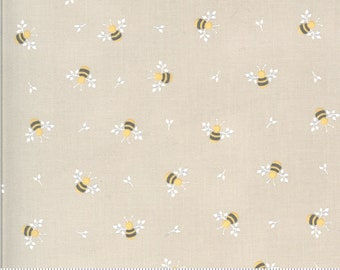 Spring Brook by Corey Yoder of Little Miss Shabby for Moda - Bees - Stone - Grey/Taupe - 29112 12 - Cotton Quilt Fabric - Choose your Size