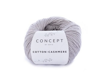 Concept by Katia - Cotton-Cashmere - Sport weight yarn - Choose Your Color