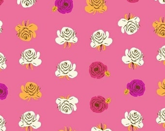 Far Far Away 2 by Heather Ross for Windham Fabrics - 51203-12 - Roses - Hot Pink - Cotton Quilt Fabric - Choose Your Size