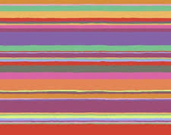 Kaffe Fassett Collective - Promenade Stripe - Hot - PWGP-178 - cotton quilt fabric - Choose Your Size K