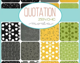 Quotation by Zen Chic for Moda - Pre-Cuts - FQ bundle, Charm, Jelly Roll or Layer Cake