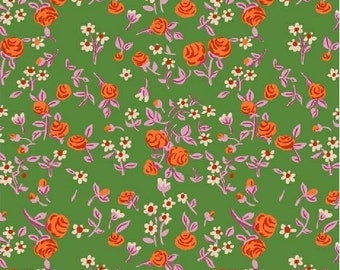 Trixie by Heather Ross for Windham Fabrics - 50898-6 - Mousies Floral - Kelly Green - Cotton Quilt Fabric - Choose Your Size 2020