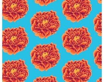 "Fall 2018 by Kaffe Fassett for Free Spirit Fabrics - Full Blown - Red - QBCP004.2REDX - 1/2 Yard - 108"" Cotton Quilt Back Fabric"