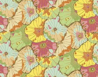 "Lotus Leaf Jade Wide Back - Kaffe Fassett Free Spirit Fabrics - GP007 - 1/2 Yard - 108"" Cotton Quilt Back Fabric - Sateen - Silky finish"