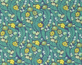 Eden by Tula Pink for Free Spirit - Wildflower - Sapphire - 1/2 Yard Cotton Quilt Fabric 516