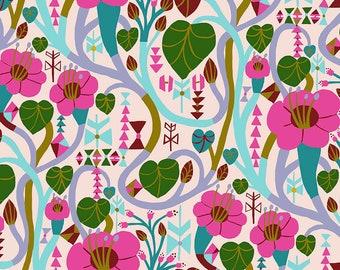 Homeward Monika Forsberg Anna Maria's Conservatory Free Spirit - Meander Lipstick MF013 - Cotton Quilt Fabric - Fat Quarter FQ BTHY Yard