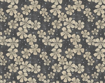 Spirit of Halloween by Cori Dantini for Free Spirit - Nocturnal Bloom - Charcoal - 100% Cotton Quilt Fabric - Choose your Size