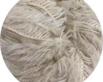 baby yeti by Big Bad Wool - raw white baby yeti - chunky yarn - baby alpaca and fine merino - 109 yards