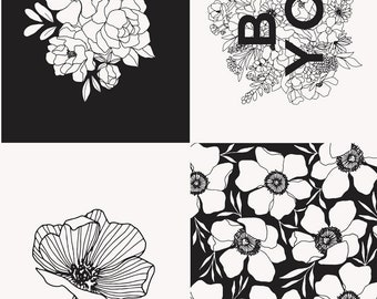 """Illustrations Panel by Alli K Design for Moda - 36"""" x 58"""" - 100% Cotton Quilt Fabric"""