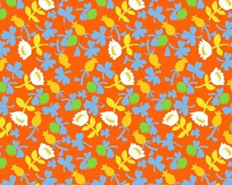 Heather Ross Briar Rose for Windham Fabrics - Calico Orange - 1/2 yard cotton quilt fabric 516