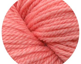 coral weepaca by Big Bad Wool - light worsted yarn - 50% fine washable merino and baby alpaca - 95 yards