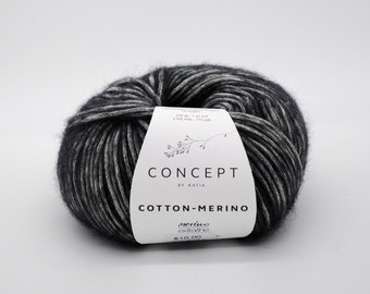 Concept by Katia - Cotton-Merino - Extra fine Merino - Aran weight yarn - Choose Your Color