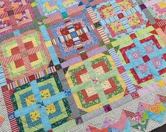 Stripe me Lucky Quilt Pattern by Jen Kingwell Designs