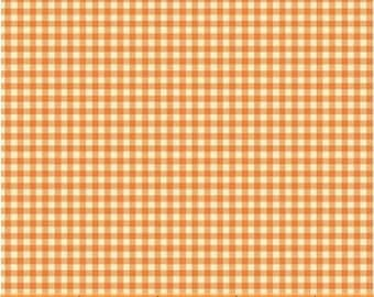 OOP Trixie by Heather Ross Windham Fabrics - 50900-13 - Gingham - Tangerine - Cotton Quilt Fabric - FQ BTHY Yard 921