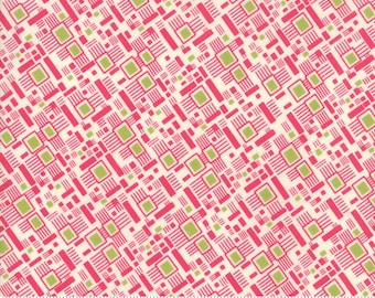 """SALE 54"""" Looking Forward Lawn by Jen Kingwell for Moda - Aerial View - Azale - Pink - 18146 16LW - Yard - 100% Cotton Quilt Fabric"""