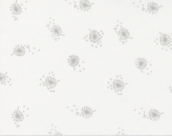 Dandelion - Little Ducklings by Paper And Cloth for Moda Fabrics - White 25106 11 - BTHY Yard - Cotton Quilt Fabric
