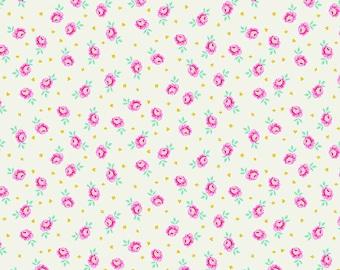 Curiouser & Curiouser by Tula Pink - Baby Buds Sugar - TP167.SUGAR Cotton Quilt Fabric - Fat Quarter fq BTHY Yard