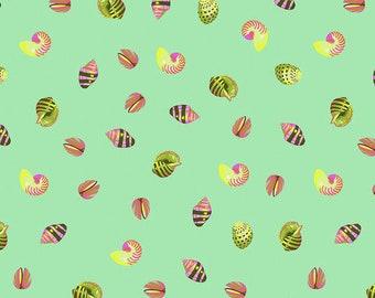 Zuma by Tula Pink for Free Spirit - Sea Shells - Seaglass - 1/2 Yard Cotton Quilt Fabric 8-21