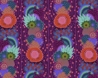 Bright Eyes by Anna Maria Horner for Free Spirit - Brimming - Grape - FQ BTHY Yard - Cotton Quilt Fabric 9-21
