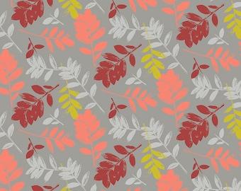 Mod Cloth by Sew Kind of Wonderful  - ZZ Leaf Fire SK007.FIRE - Cotton Quilt Fabric - Fat Quarter fq BTHY Yard