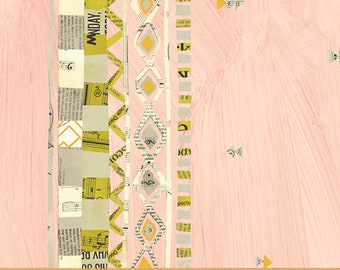 Wish by Carrie Bloomston for Windham Fabrics - Zigzag Border - Millennial Pink - 51739M-4 - Cotton Quilt Fabric FQ BTHY Yard 8-21B
