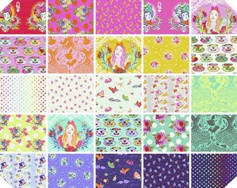 Curiouser & Curiouser by Tula Pink 25 prints - Fat Quarter BTHY Yardage Bundles 100% Cotton Quilt Fabric