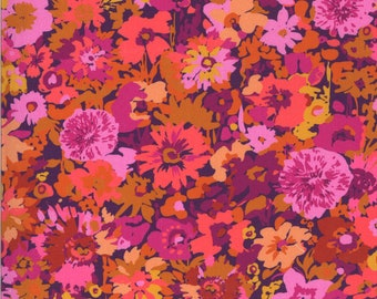 Kasada by Crystal Manning for Moda - Flower Field - Berry - 11861 12 - Select a Size - Cotton Quilt Fabric K