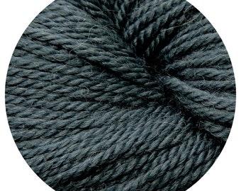 charcoal weepaca by Big Bad Wool - light worsted yarn - 50% fine washable merino and baby alpaca - 95 yards