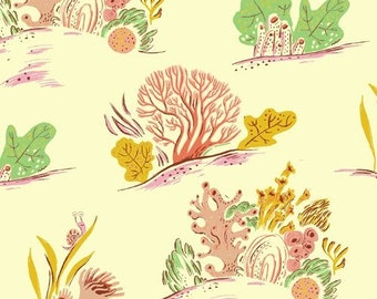 Malibu by Heather Ross for Windham - Coral - Minty - 52147-21 - Cotton Quilt Fabric  - FQ BTHY Yard 921
