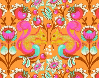 All Stars by Tula Pink for Free Spirit - Squirrel - Begonia - Cotton Quilt Fabric - 1/2 Yard 8-21B