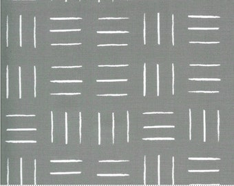 SALE Zoology by Gingiber - Opposing Lines - Grey - Select a Size - Cotton Quilt Fabric