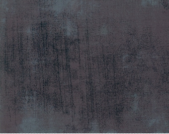 """108"""" Grunge Cordite black charcoal grey by Basic Grey for Moda - 11108 454 - 1/2 Yard - 100% Cotton Quilt Back Fabric"""