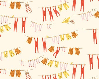 Pre-Order - Far Far Away 3 by Heather Ross for Windham - Laundry - Cream - 52755-5 - Select a Size - Cotton Quilt Fabric