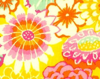 HTF OOP Kaffe Fassett - Asian Circles Yellow - GP89  BTHY 1/2 Yard Cotton Quilt fabric